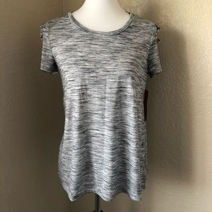 Bold Elements Heather Grey Short Sleeve Shirt Sz S